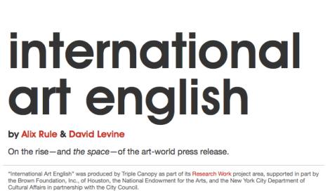 International Art English 2