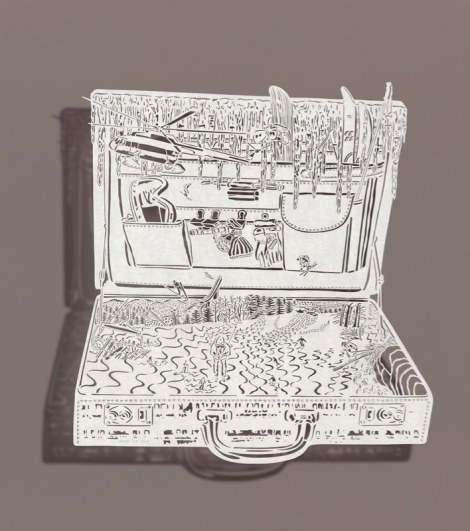 Bovey Lee, 'Briefcase Vacation – Winter' (2012)21.5 x 21.5""