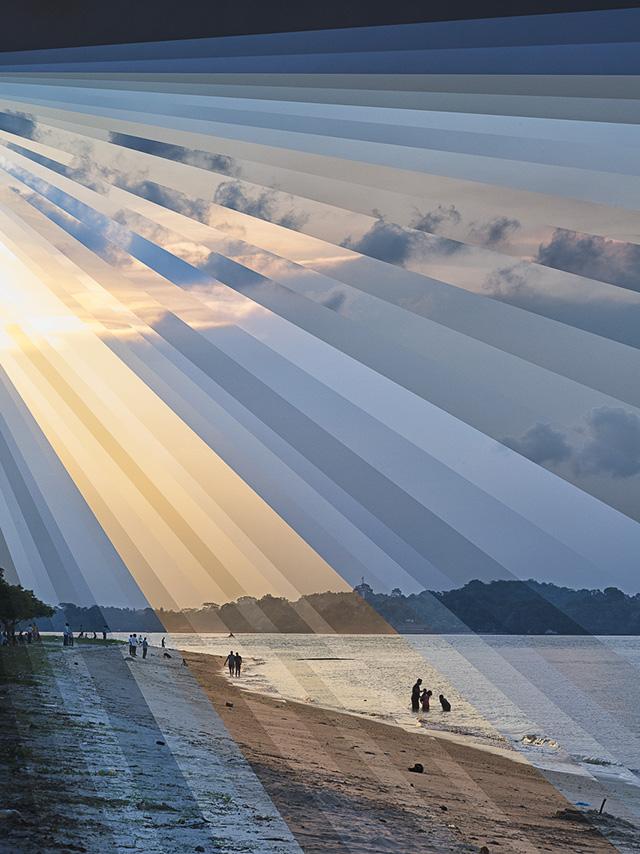 'Changi Beach Sunset' (2013) by Fong Qi Wen