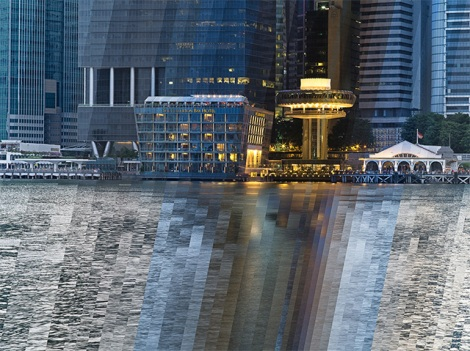 'Fullerton Bay Hotel Sunset' (2013) by Fong Qi Wen