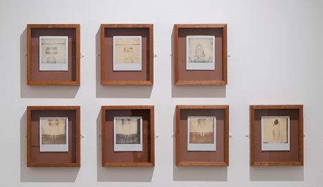 Emily Speed, Body/Building series, 2012, 7 framed Polaroid 600 film photographs, image sizes 9 x 11.5 cm/ 3.5 x 4.5 inches
