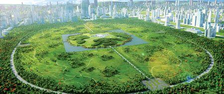 'China Park' (2010) by Gu Wenda