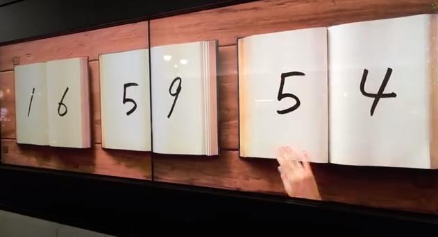 book-clock Masaaki Hiromura