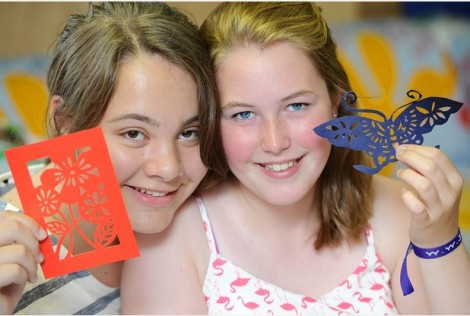 Molly and Bethan papercut article