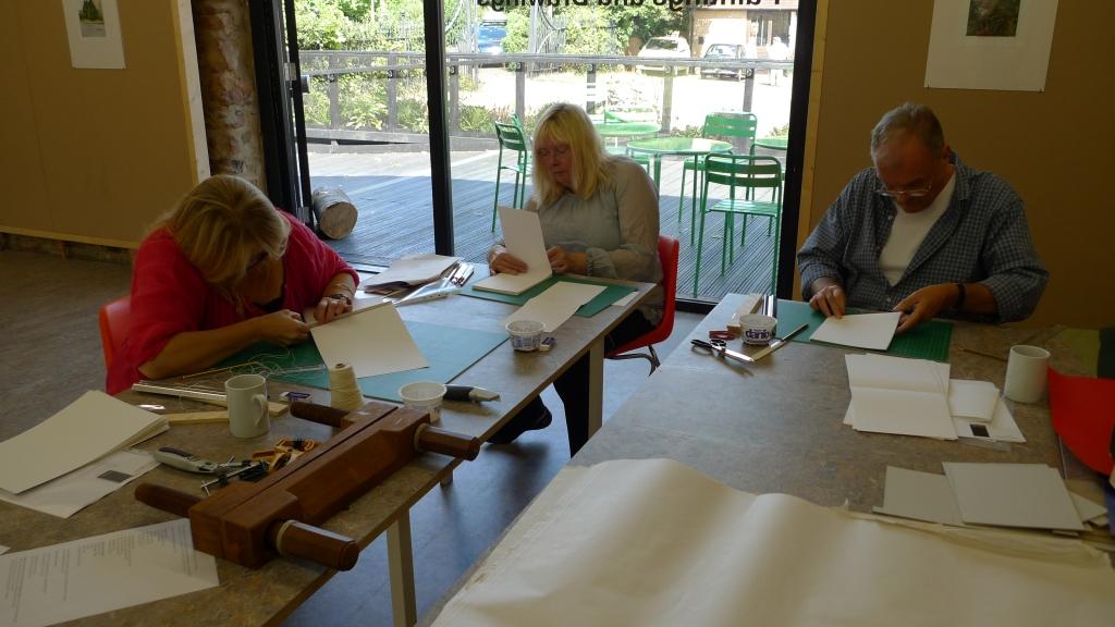 Milton Keynes Arts Centre bookbinding workshop 2