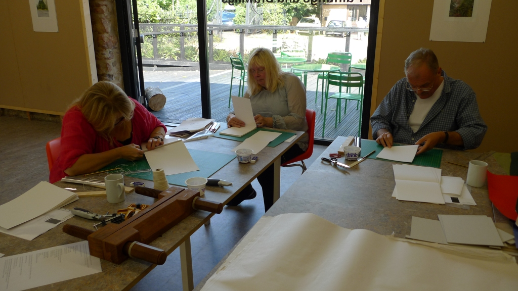 Milton Keynes Arts Centre bookbinding workshop 2