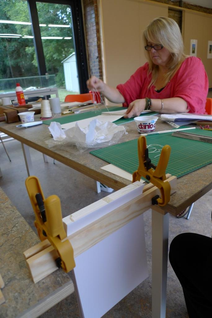 Milton Keynes Arts Centre bookbinding workshop 3