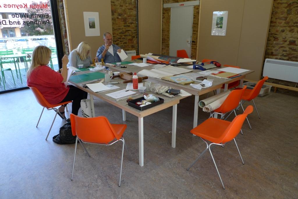 Milton Keynes Arts Centre bookbinding workshop 5