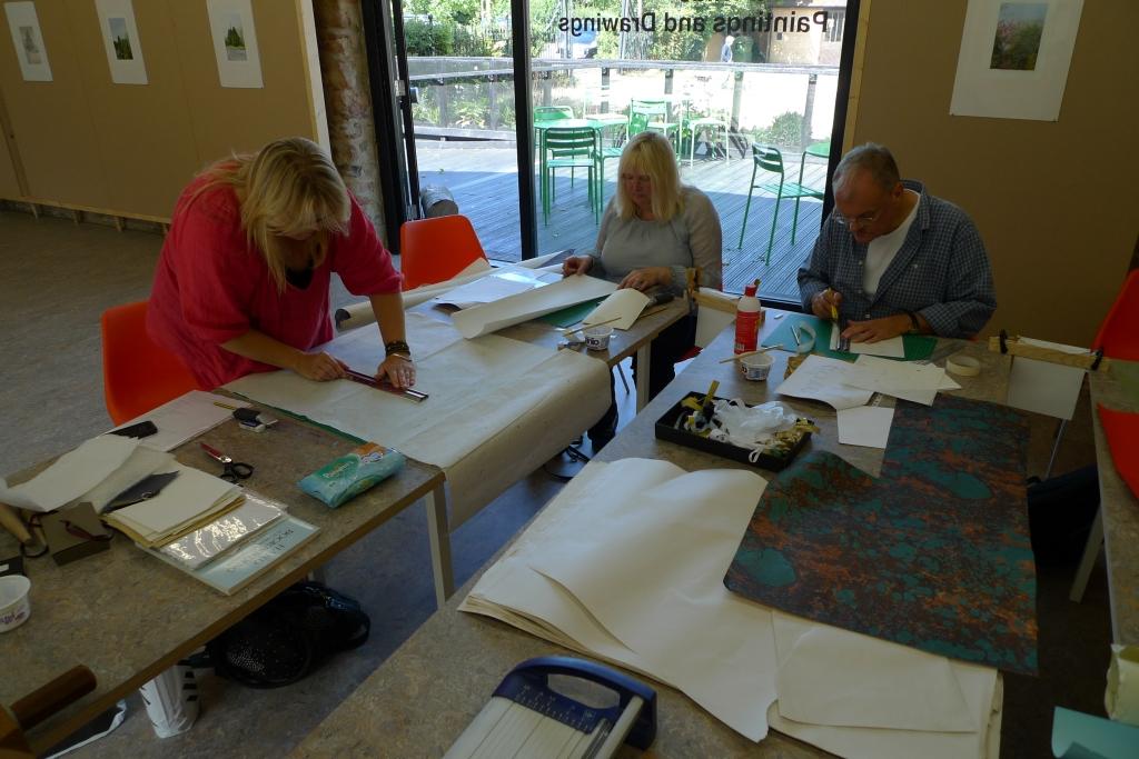 Milton Keynes Arts Centre bookbinding workshop 11