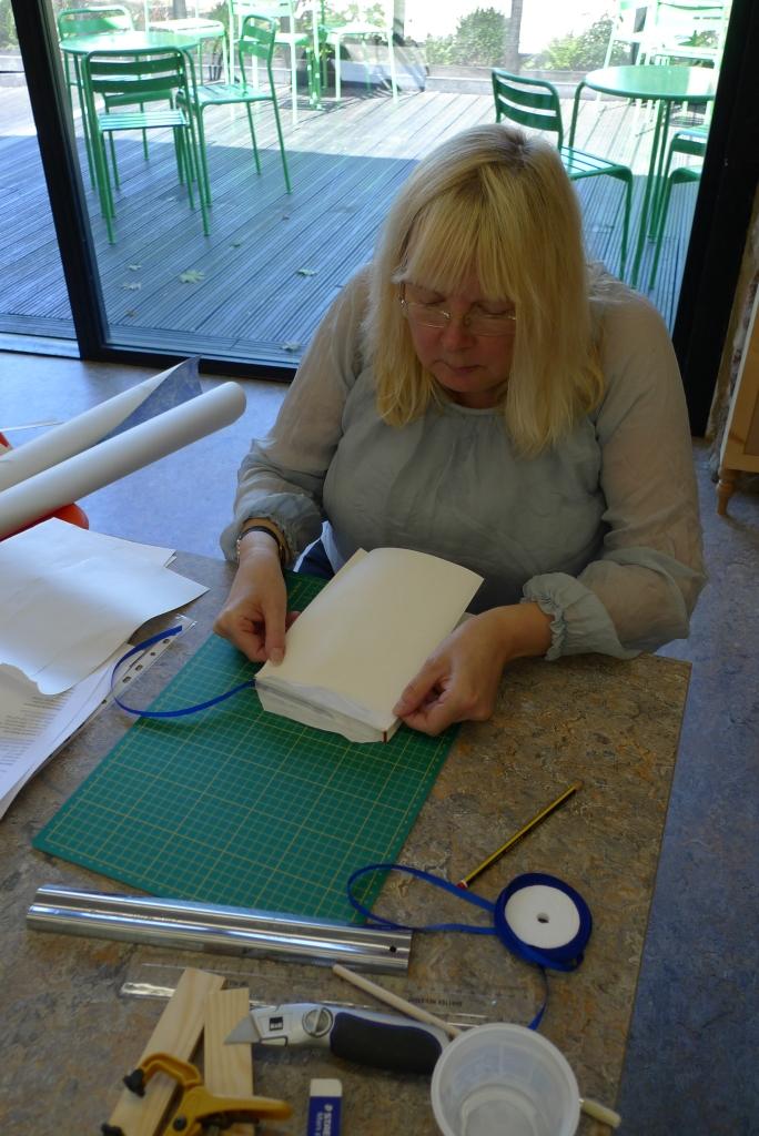 Milton Keynes Arts Centre bookbinding workshop 12