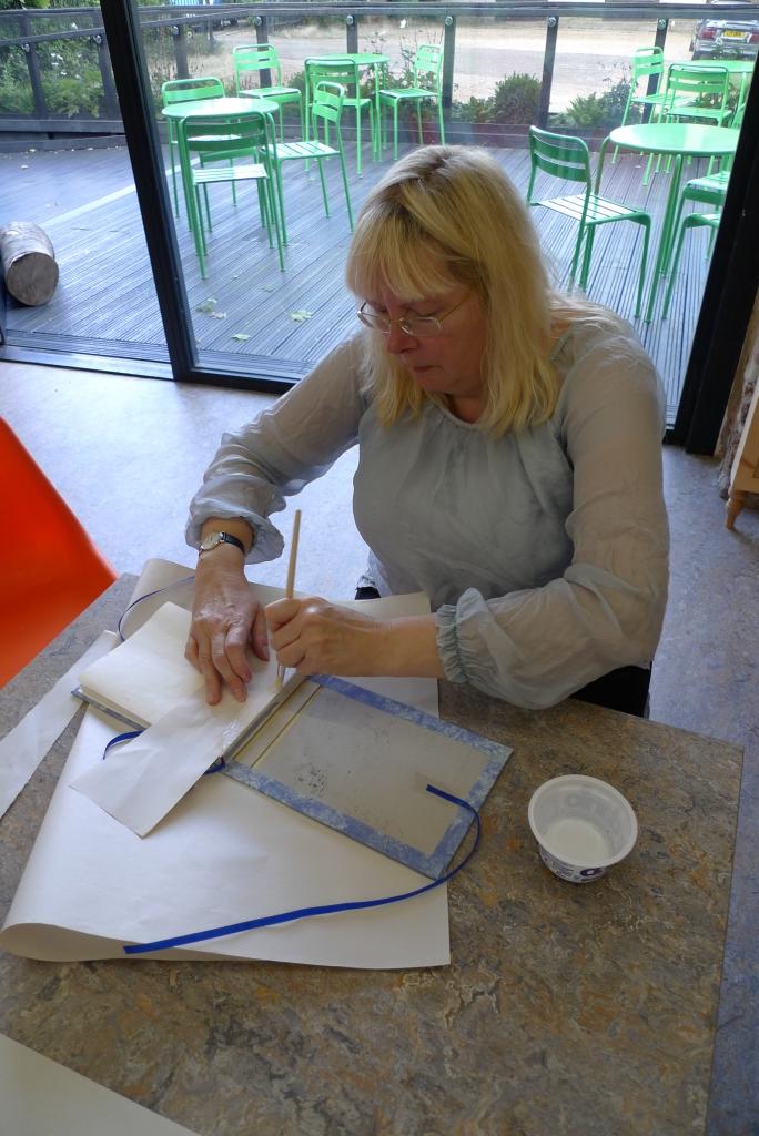 Milton Keynes Arts Centre bookbinding workshop 14
