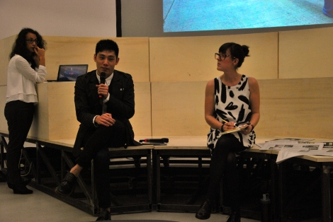 In conversation with curator Wang Dong as part of the closing event for Transnational Dialogues 2014, Museo MAXXI, Rome, 15 November 2014