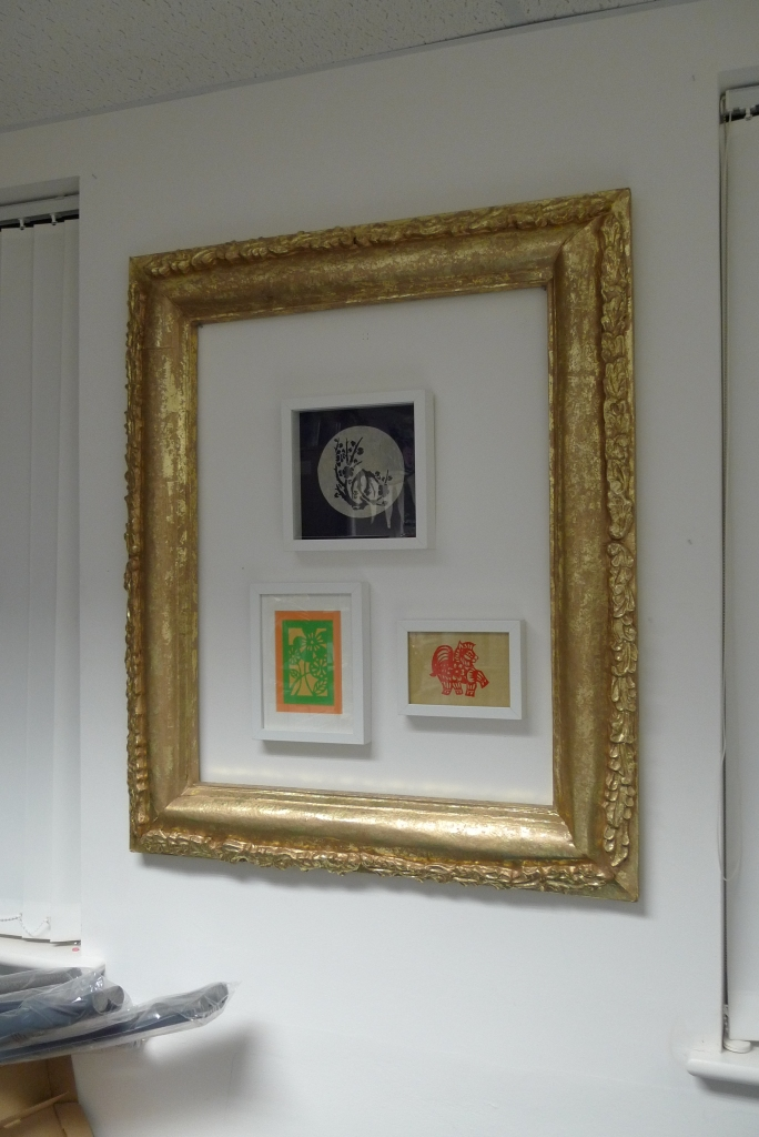 LCC Papercutting framed