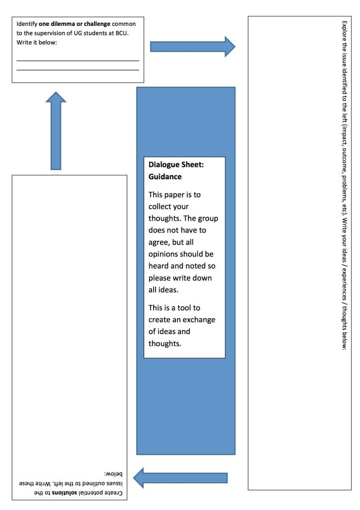 dialogue sheet - exploring challenges