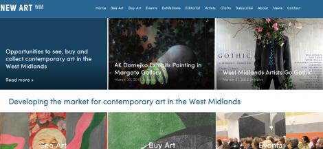New Art WM website
