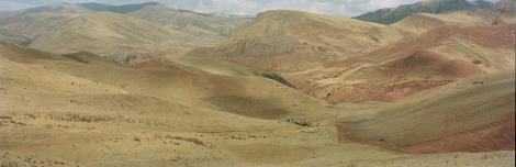 Farmland. Guide, Qinghai, China. (2014) by Ian Teh