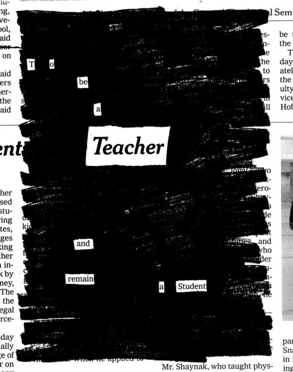 Austin Kleon To Be a Teacher
