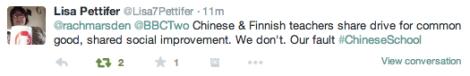 Chinese School BBC2 Twitter 9
