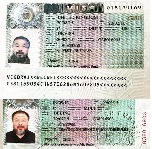 Ai Weiwei Visa 2015 1