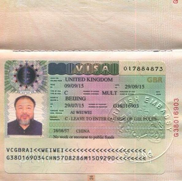 Ai Weiwei Visa 2015 3