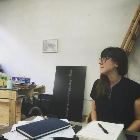 wordgirl in Morgan Wong's studio