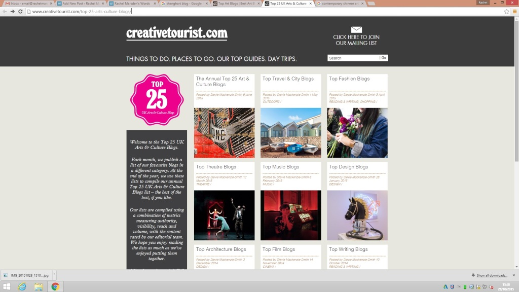 Creative tourist uk art and design blogs