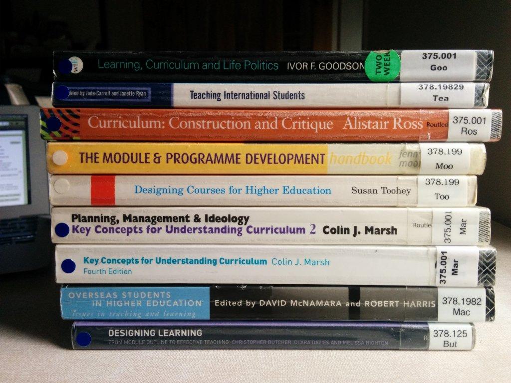 Curriculum design books 1