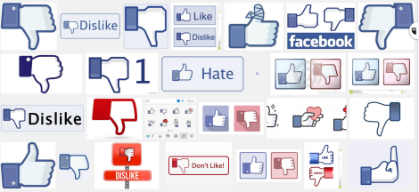 Dear Facebook dislike hate thumb
