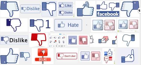 Dear Facebook dislike hate thumb