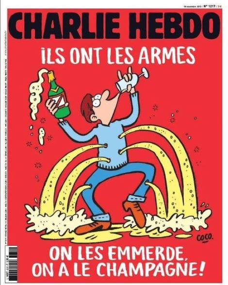 Charlie Hebdo Ils Ont Les Armes and Champagne 1