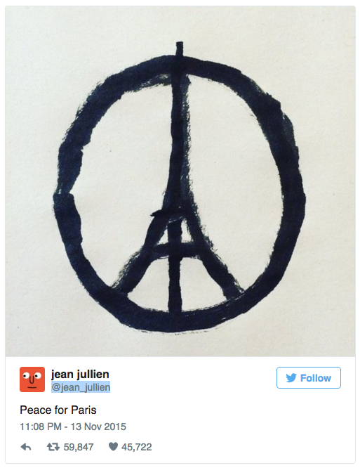 @jean_jullien on Instagram - Peace for Paris