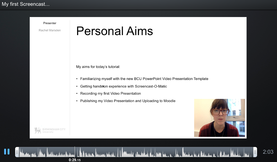 Screencast 2 TELT Session 3