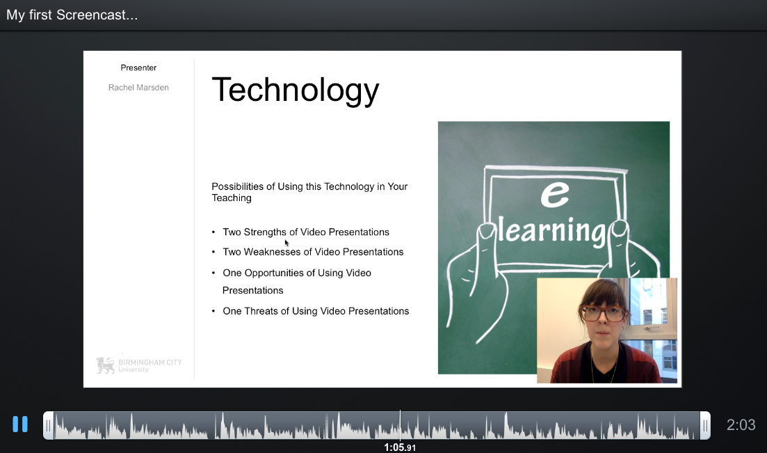 Screencast 4 TELT Session 3