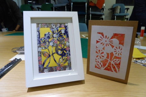 Attenborough Arts Centre Leicester papercutting workshop 13