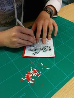 Attenborough Arts Centre Leicester papercutting workshop 15