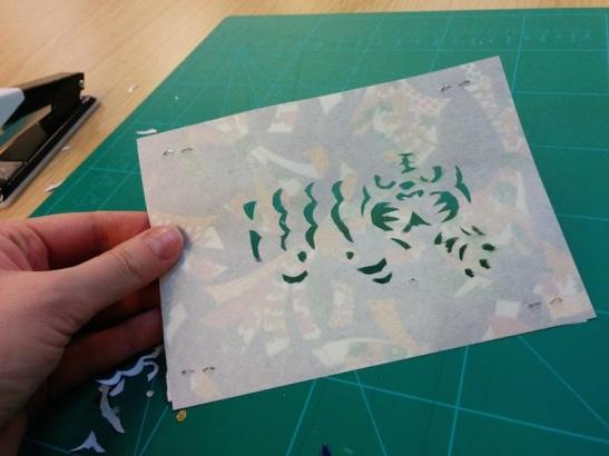 Attenborough Arts Centre Leicester papercutting workshop 16