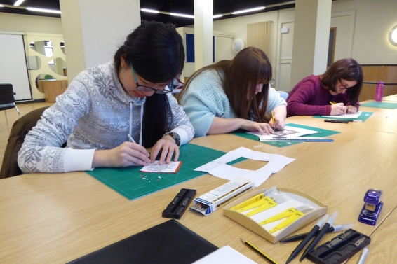 Attenborough Arts Centre Leicester papercutting workshop 4