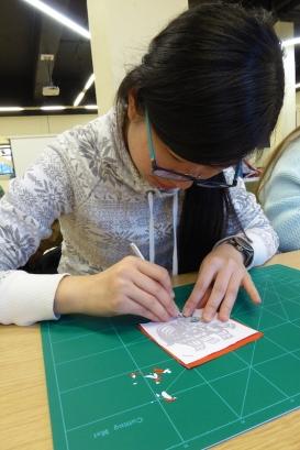 Attenborough Arts Centre Leicester papercutting workshop 5