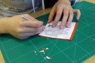 Attenborough Arts Centre Leicester papercutting workshop 6