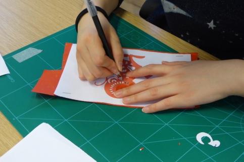 Attenborough Arts Centre Leicester papercutting workshop 7
