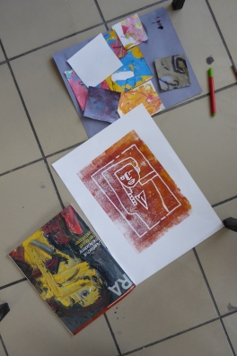 Attenborough Arts Centre Mono printing 1