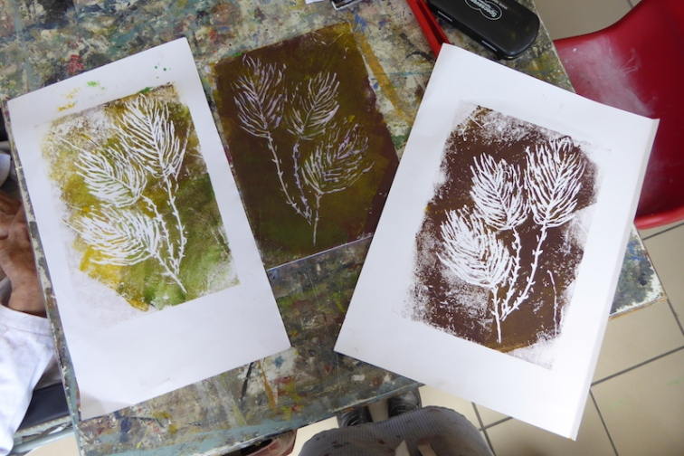 Attenborough Arts Centre Mono printing 4