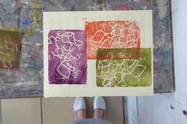 Attenborough Arts Centre Mono printing 5