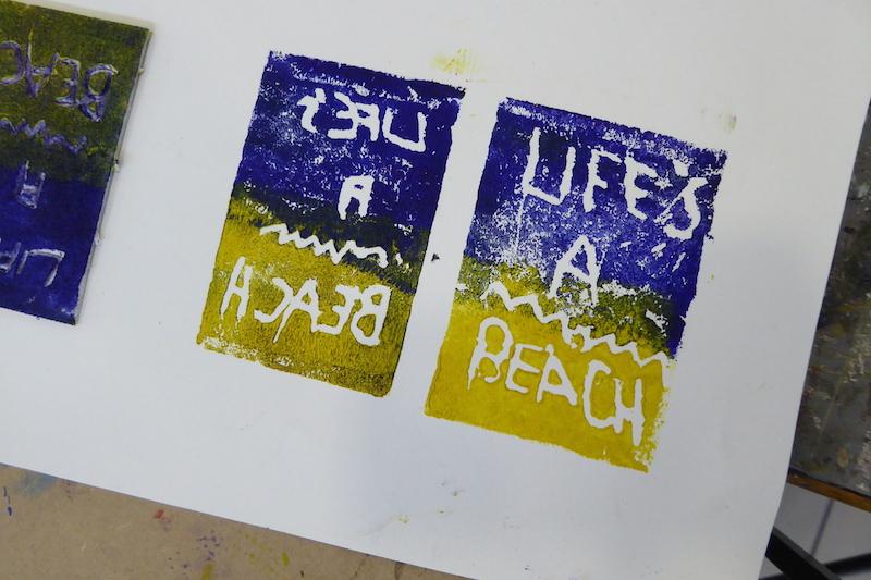 Attenborough Arts Centre Mono printing 7