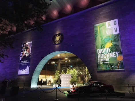NGV at night, Melbourne