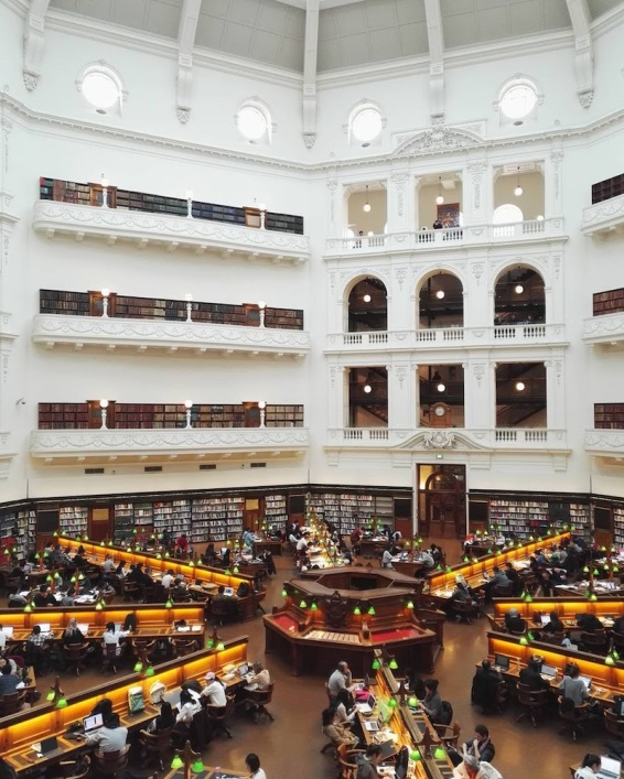 Melbourne State Library view