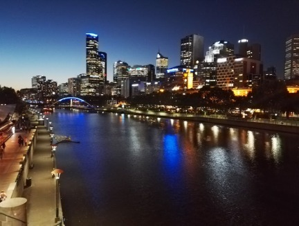 Yarra River city view, Melbourne