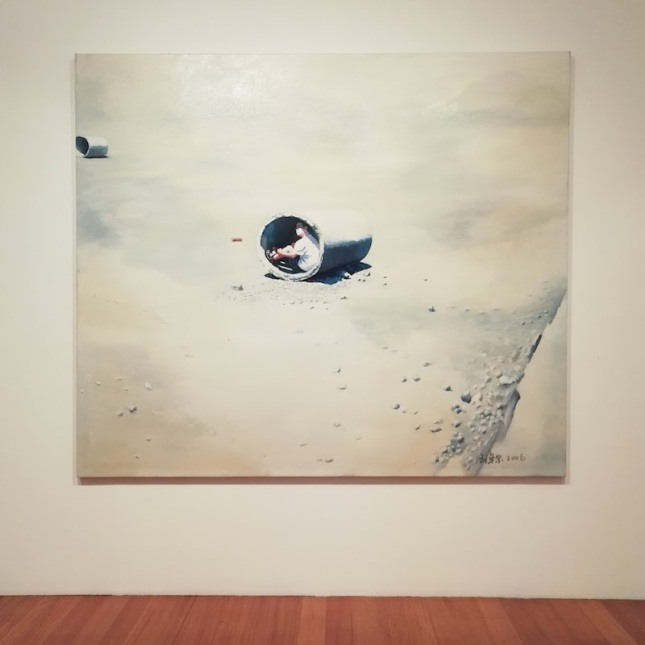 'White Light' (2006), oil on canvas, as part of 'One Man' by Liu Zhuoquan at Niagara Galleries, Melbourne