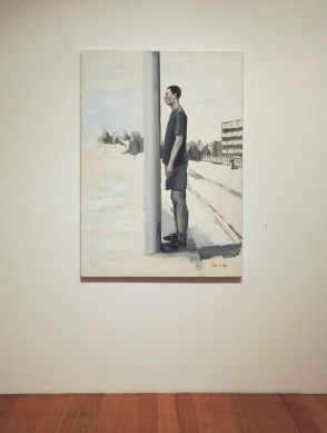 'Man opposite telegraph pole' (2009) as part of 'One Man' by Liu Zhuoquan at Niagara Galleries, Melbourne