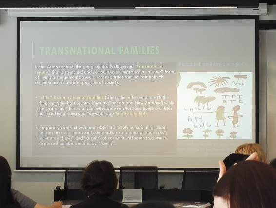Professor Brenda Yeoh from National University of Singapore, who spoke on 'Transnational families, communication technologies and the negotiation of temporal orderings: Simultaneities, rhythms and ruptures'